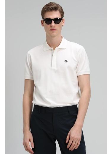 Lufian Jons Spor Polo T- Shirt  Beyaz
